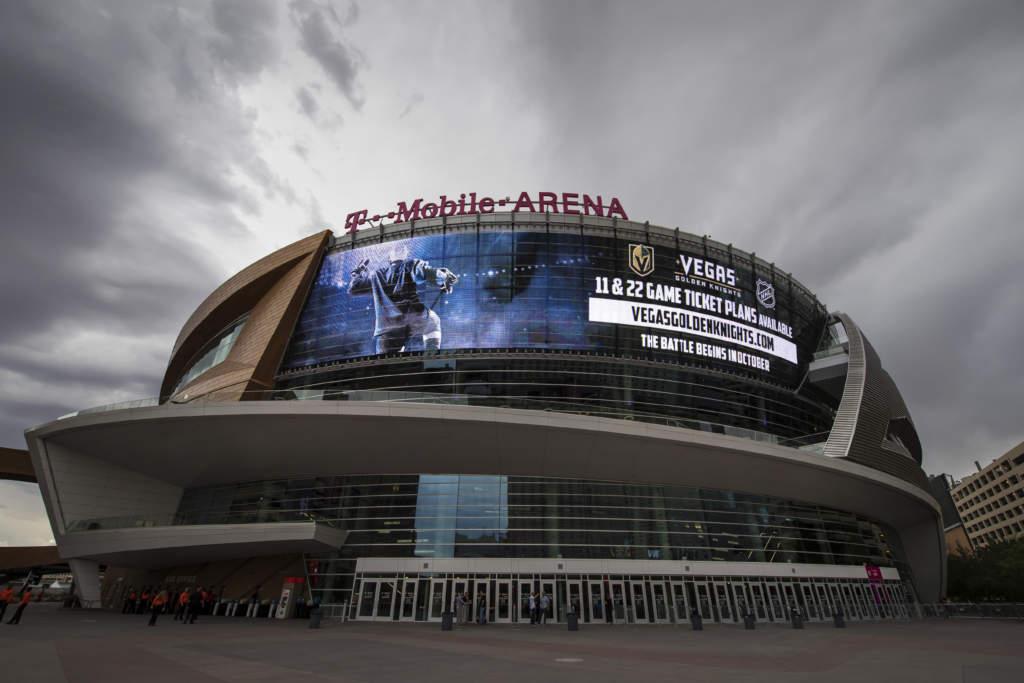170823 Exterišr av T-Mobile Arena, spelplats fšr det kommande NHL-laget Vegas Golden Knights, den 23 augusti 2017 i Las Vegas. Foto: Joel Marklund / BILDBYRN / kod JM / 87527